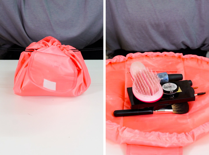 27 - A makeup bag that tightens up to close