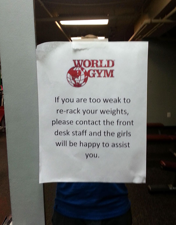 6 - 38 weirdest things spotted at the gym