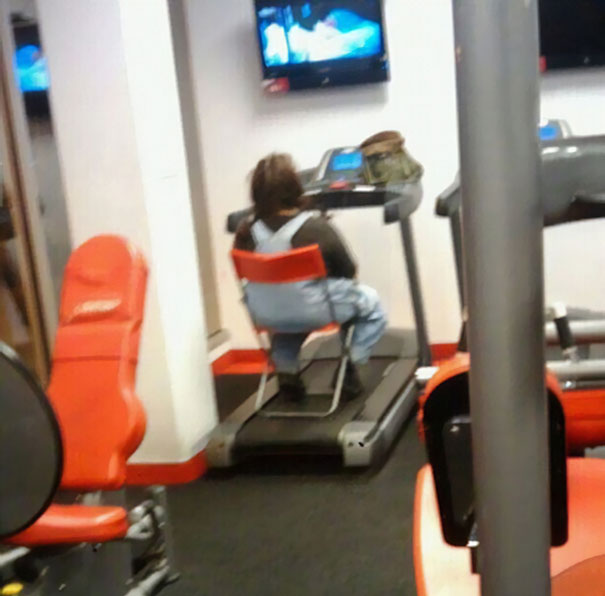 8 - 38 weirdest things spotted at the gym