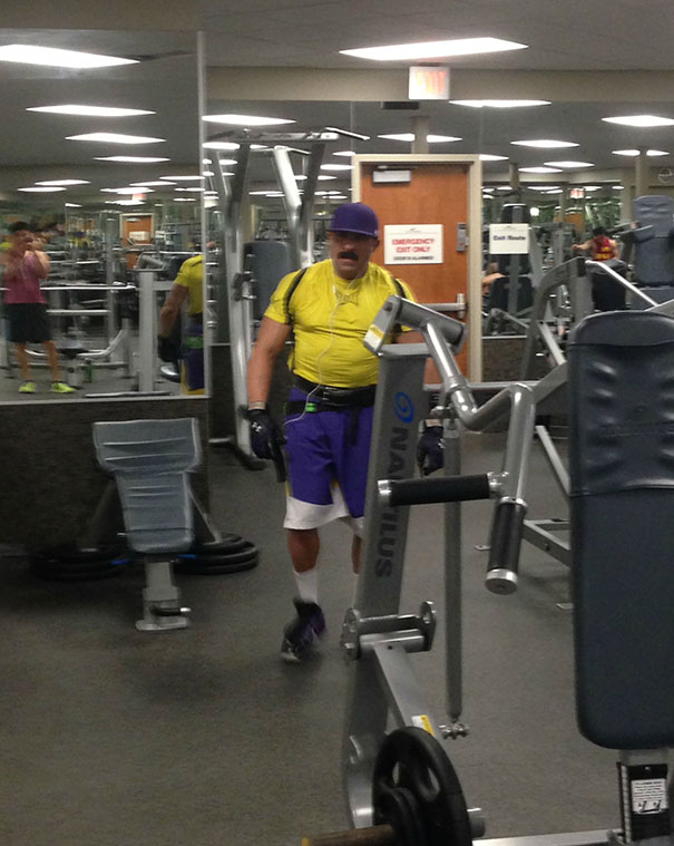13 - 38 weirdest things spotted at the gym