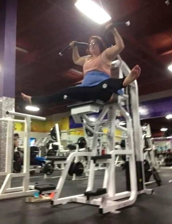 18 - 38 weirdest things spotted at the gym