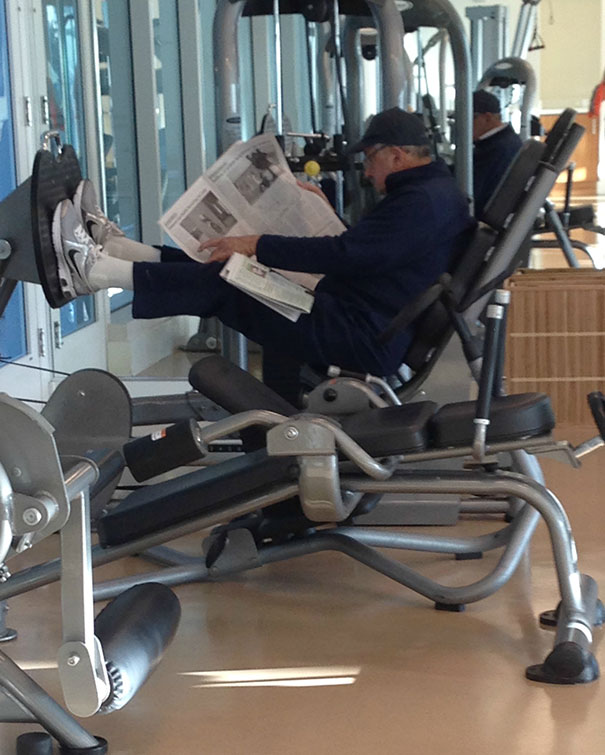 23 - 38 weirdest things spotted at the gym