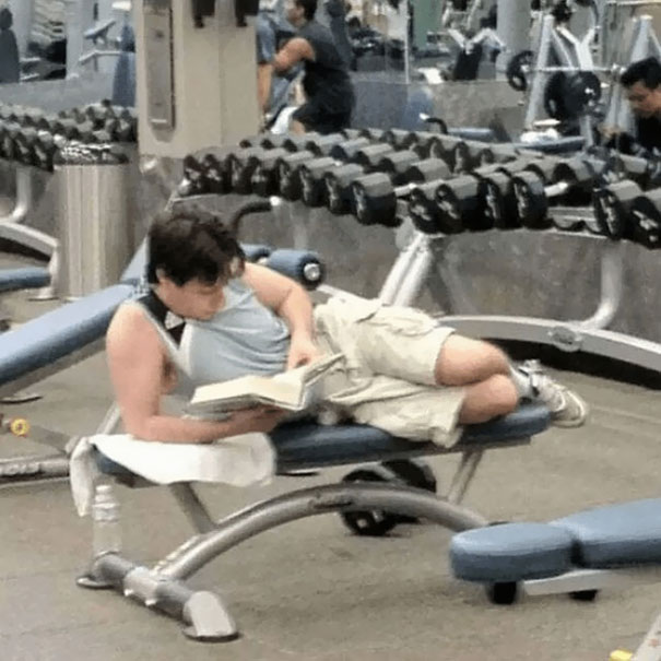 24 - 38 weirdest things spotted at the gym