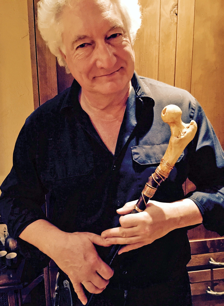 6 - After his hip replacement, this man got his hip bone back. And he turned it into a cane!