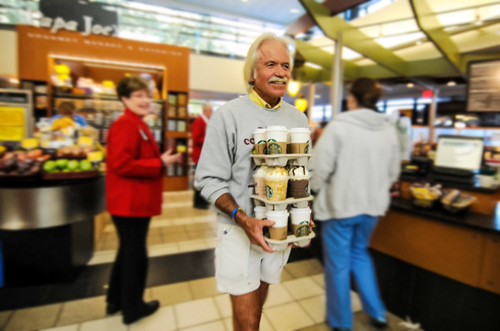 7 - This man buys coffee for the local Cancer center twice a week with his own money.