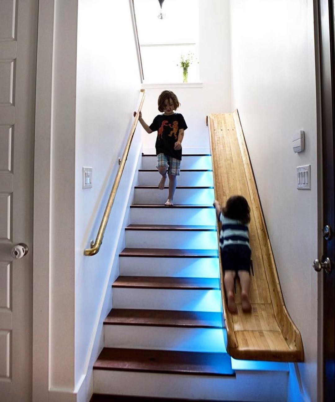 2 - Cheer your kids up with a fun slide instead of a boring staircase.
