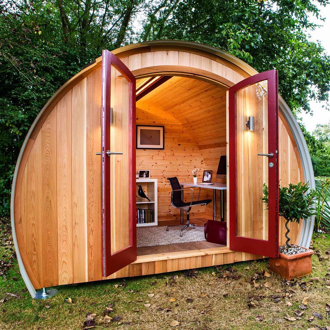 14 - Set an office pod in your garden to always be productive.