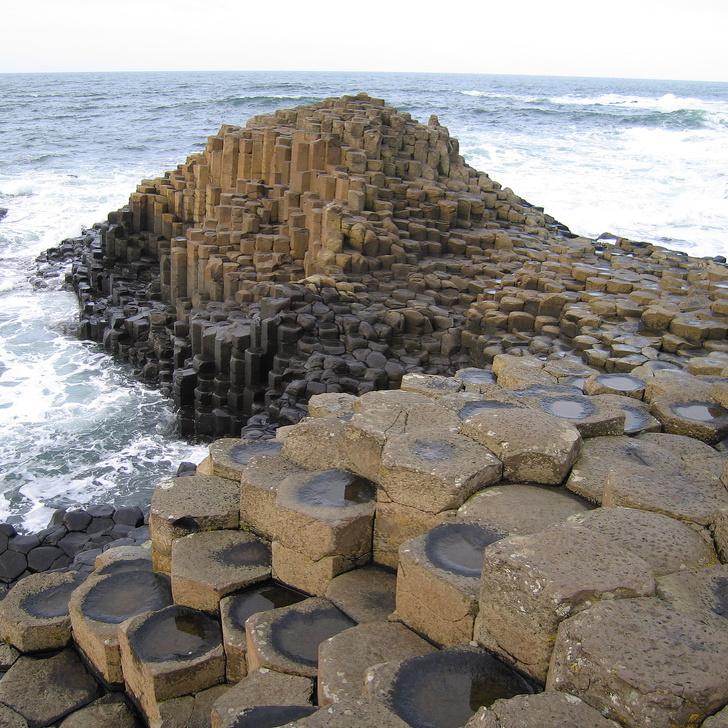 11 - Interlocking basalt columns of the Giant's Causeway, Northern Ireland.