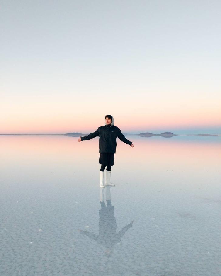 12 - Extraterrestrial salt flat in Uyuni, Bolivia.