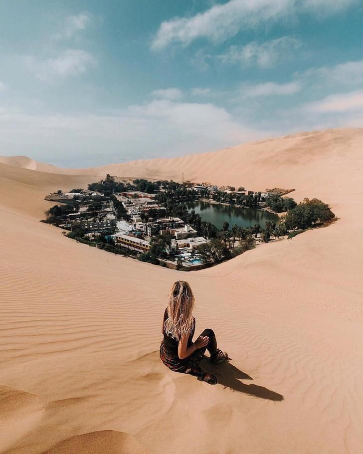 13 - Huacachina, an alienated desert oasis in Peru.