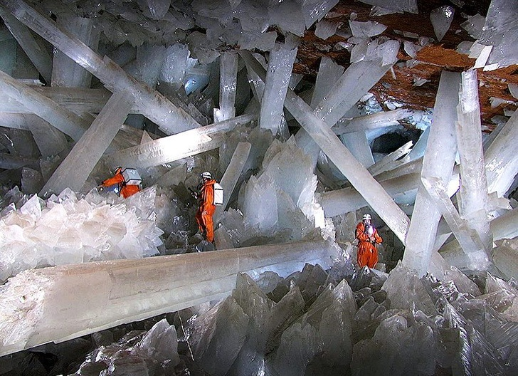 16 - Naica Mine with extremely large selenite crystals, Mexico.