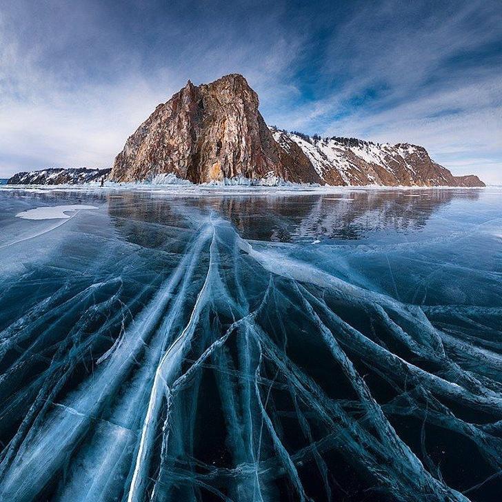 18 - Lake Baikal in winter, Russia.