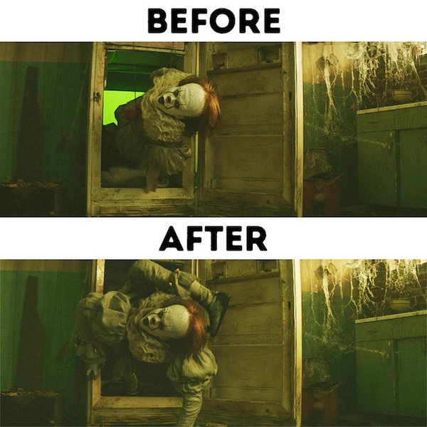 4 - 30 before and after special effects scenes