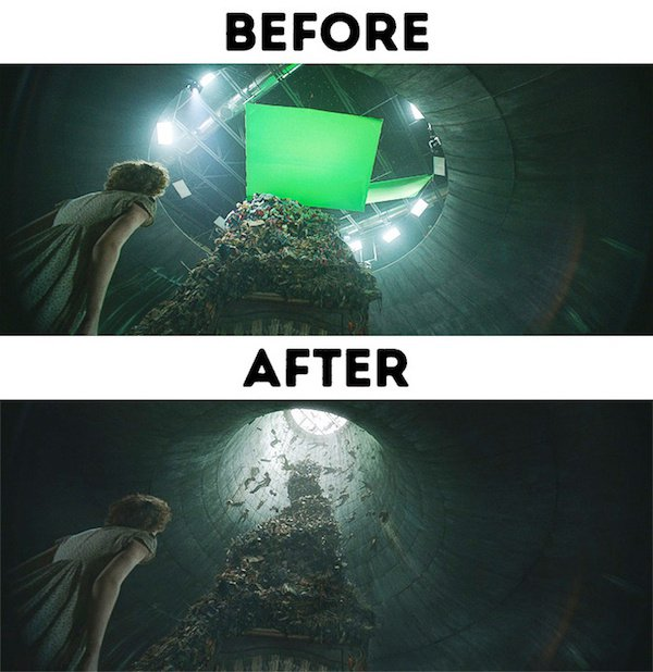 5 - 30 before and after special effects scenes