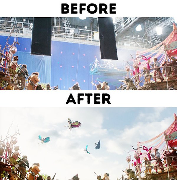 6 - 30 before and after special effects scenes
