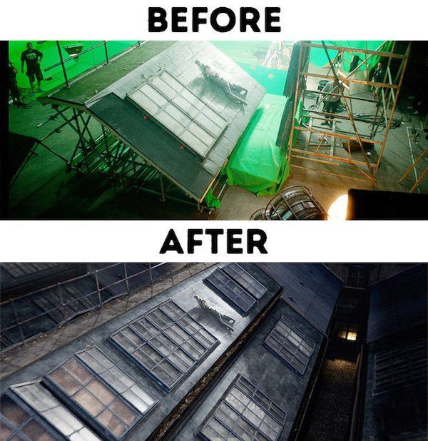 7 - 30 before and after special effects scenes