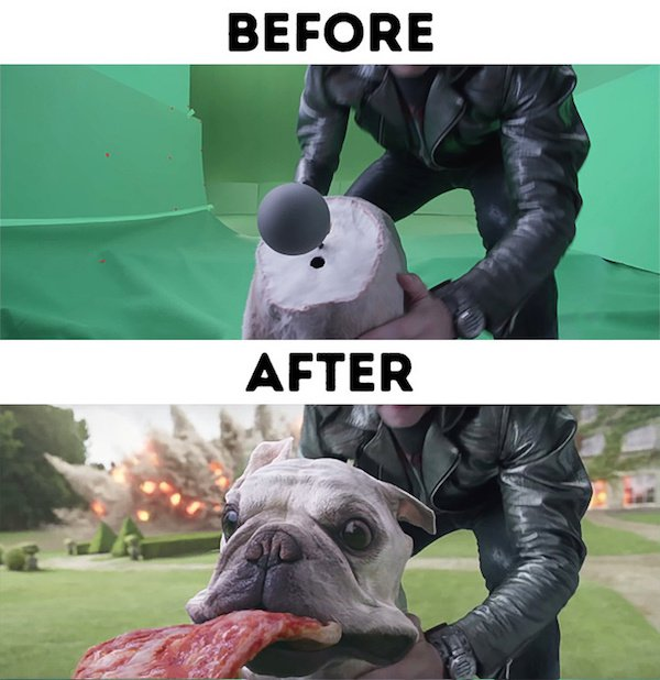 9 - 30 before and after special effects scenes