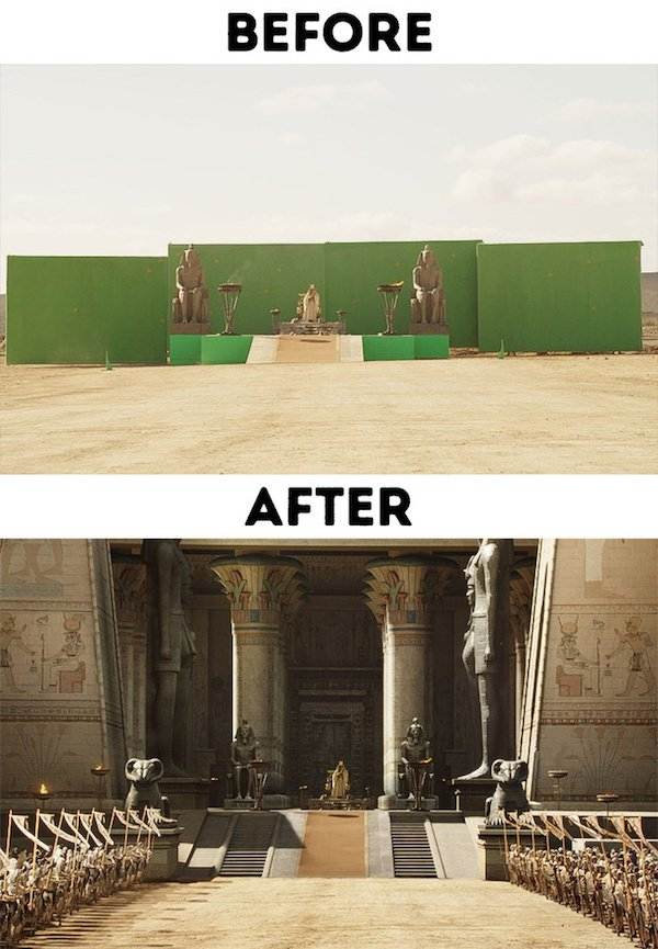 10 - 30 before and after special effects scenes
