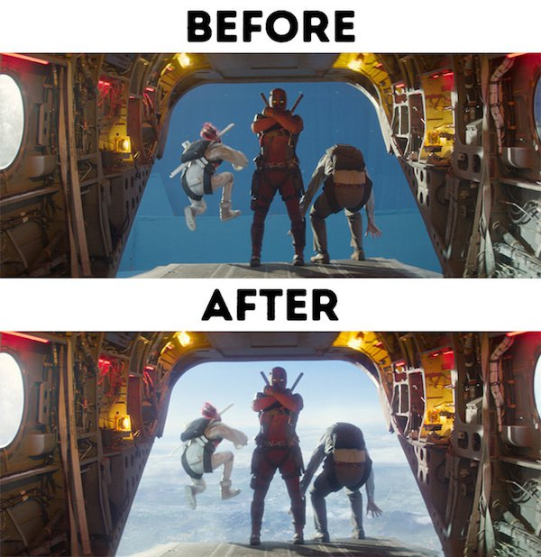 17 - 30 before and after special effects scenes