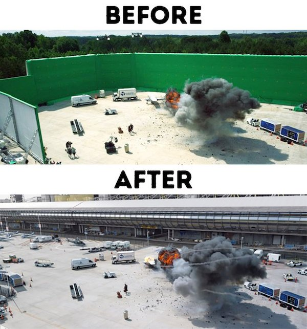 18 - 30 before and after special effects scenes