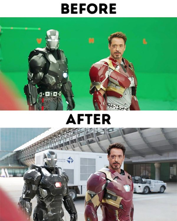 19 - 30 before and after special effects scenes