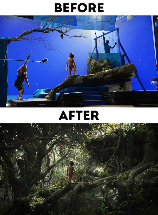 20 - 30 before and after special effects scenes