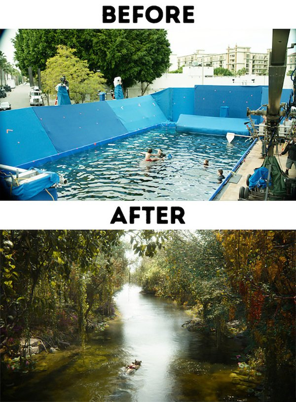 21 - 30 before and after special effects scenes