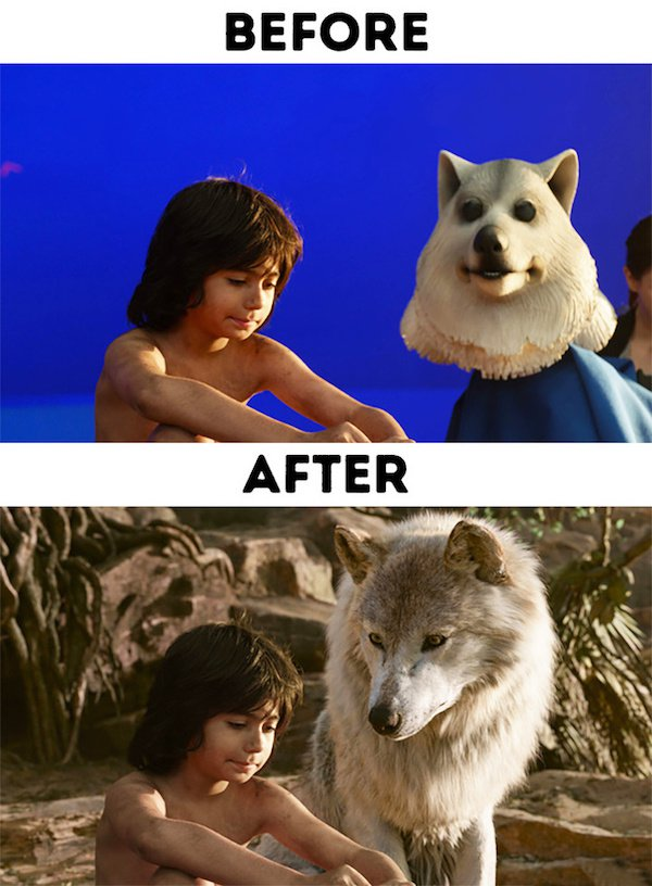 22 - 30 before and after special effects scenes