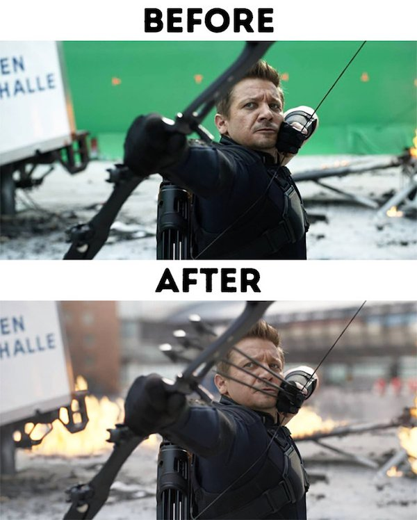 24 - 30 before and after special effects scenes