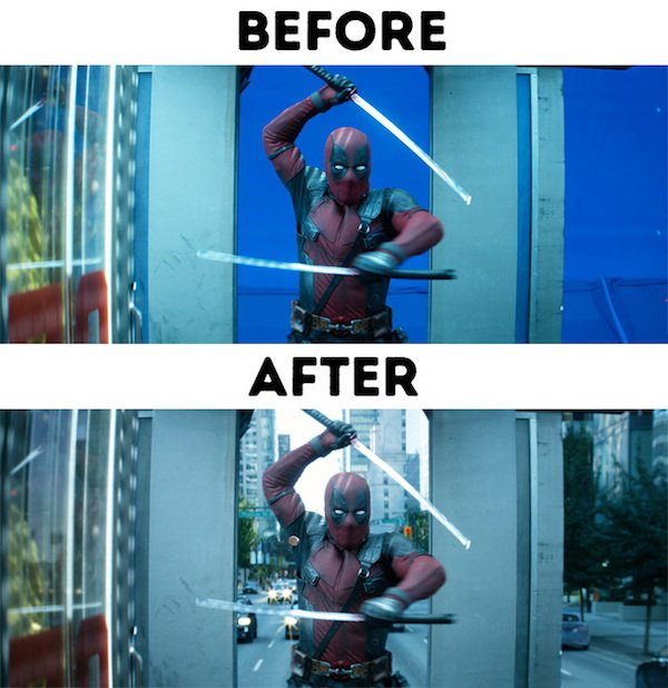 25 - 30 before and after special effects scenes