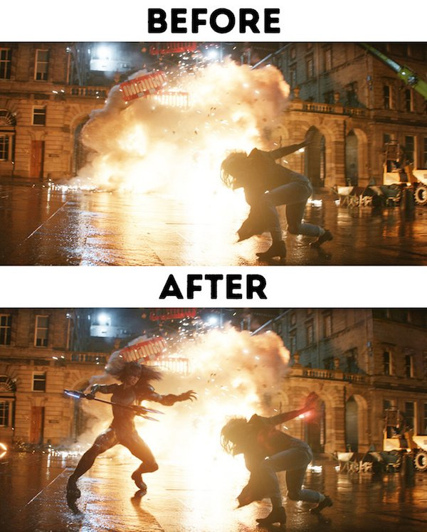 26 - 30 before and after special effects scenes