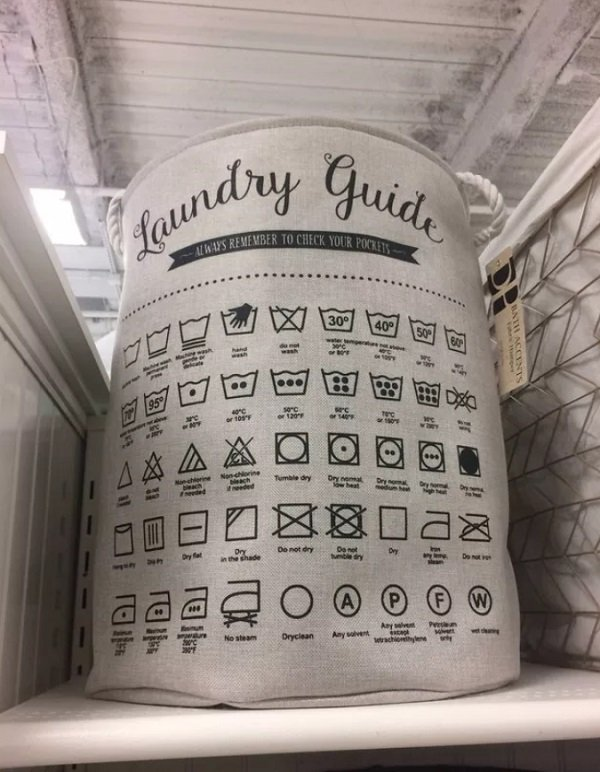 19 - This helpful laundry basket.