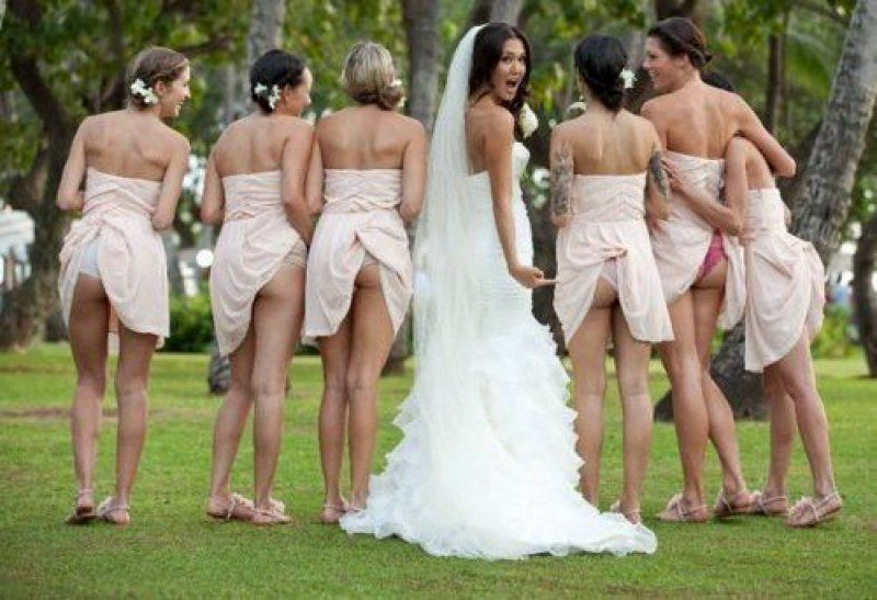 Bridesmaids showing off their butts ... - Picture | eBaum's World