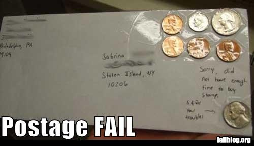 Postage st fail