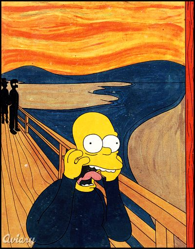 Famous works of art remade simpsons style gallery ebaum s world