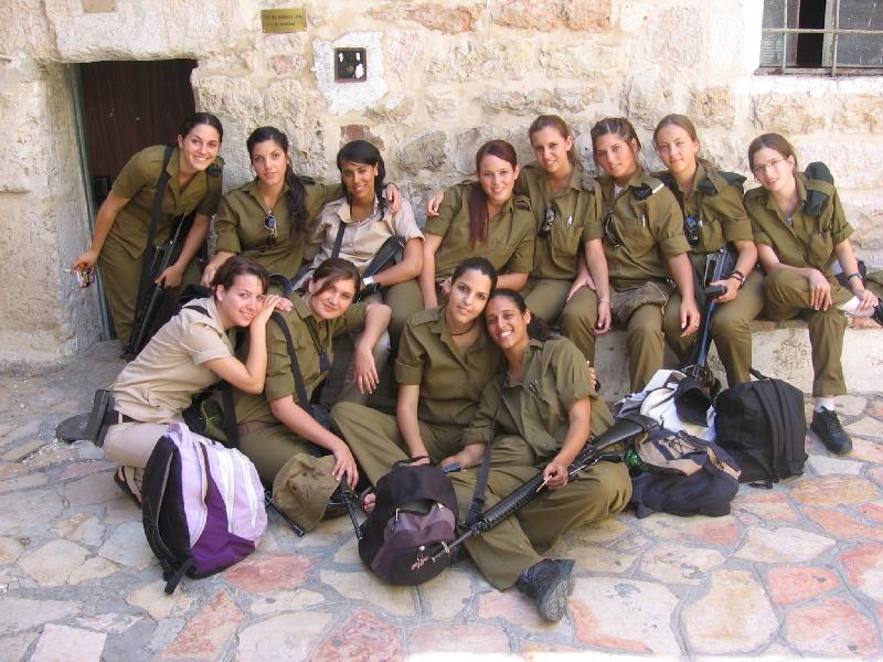 Women soldiers israeli Hot