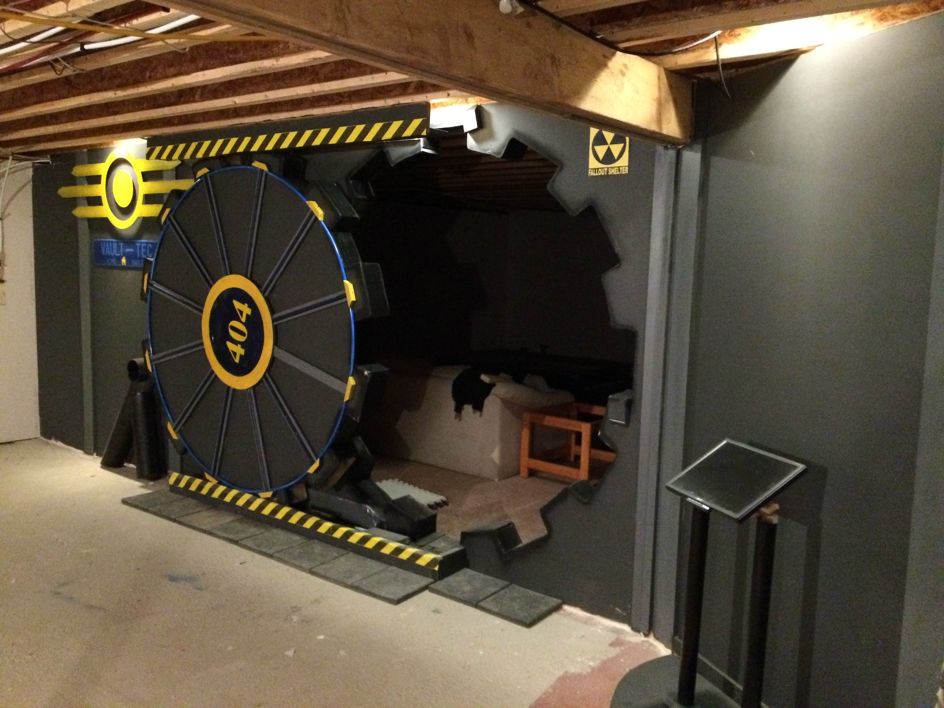 Man Cave Ideas Nerd : Guy turns his man cave into a fallout vault gallery ebaum's world