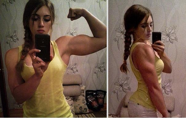 2 -  ... she is 20 and a bodybuilder, Olympic nonetheless.
