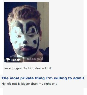Juggalo dating fail