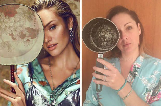 4 - Instagram Troll Celeste Barber Recreates Famous Celebrities Ridiculous Photos