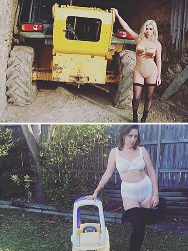9 - Instagram Troll Celeste Barber Recreates Famous Celebrities Ridiculous Photos