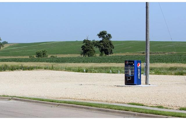 15 - Lone Pepsi machine in Iowa Iowa