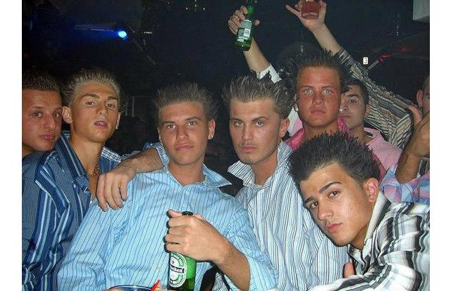 30 - Douchebags in New Jersey with that Jersey-short hair style New Jersey