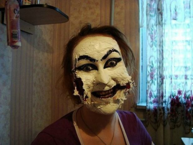 7 -  Don't overdo it or you'll look like a Kabuki Mask!