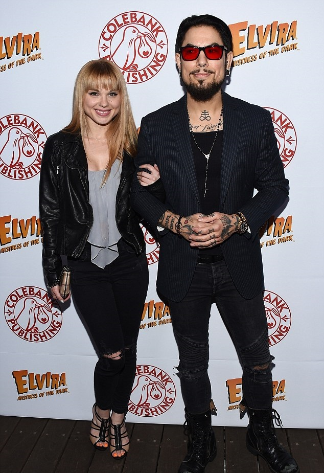 2 -  Dave Navarro with his date for the night, porn actress Jayme Langford, at an event in 2016. The internet blew up with the story she was actually his daughter, but this is false. In fact, she was just another girl on the list of pornstars he has been with including Sasha Grey, Jenna Haze, Stormy Daniels, Tila Tequila, Jenna Jameson, Brittany Skye and numerous others.