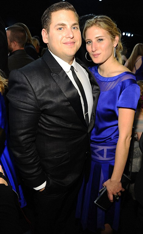 4 -  Jonah Hill attends an event with his girlfriend Ali Hoffman in 2012. Hoffman is Dustin Hoffman's daughter.
