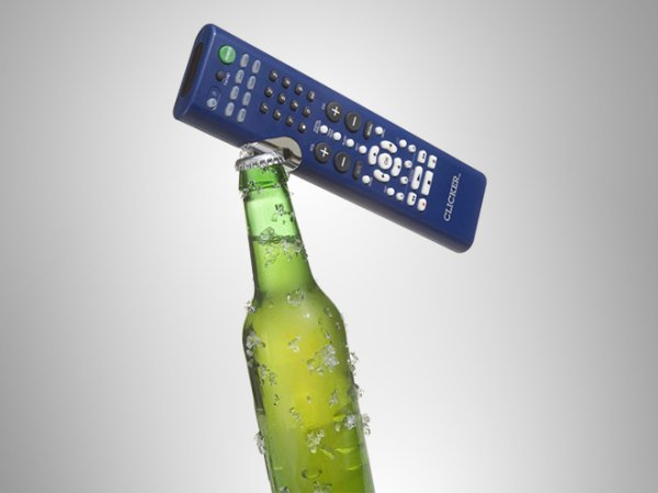 5 - A combo remote-control/bottle opener. Miss up to 5 seconds of commercials while you grab your bottle opener? NEVER!