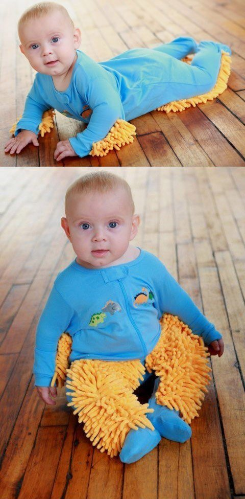 9 - Your baby is on the floor anyway, so why not combine it with a mop?