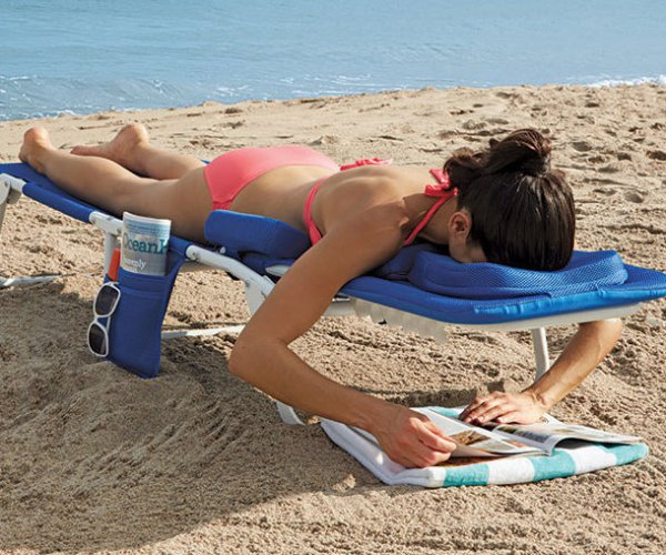 16 - This face-down beach lounger. Tanning your back doesn't have to be boring ever again!