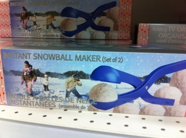 18 - This instant snowball maker will help you stay warm and dry while you make others cold and wet.